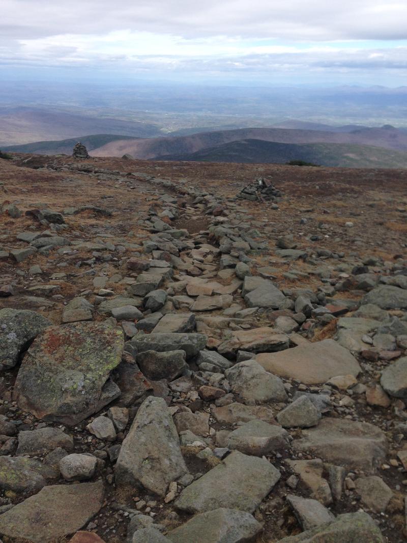 The Appalachian Trail runs over Moosilauke
