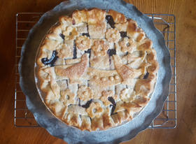 Blueberry Rhubarb Pie by Deanna Fox