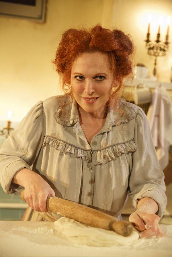 Carolee Carmello as Mrs. Lovett in Sweeney Todd at The Barrow Street Theatre