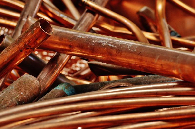 copper cables and pipes