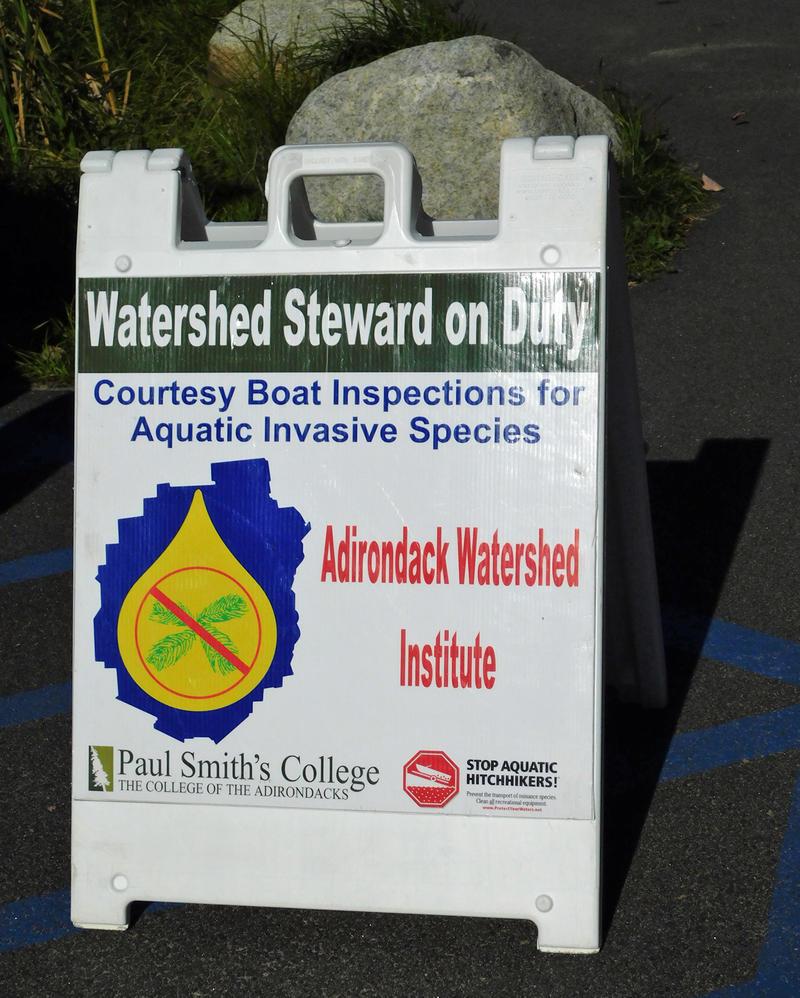 Invasive steward sign