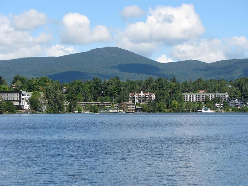 Lake Placid with Mirror Lake in the foreground