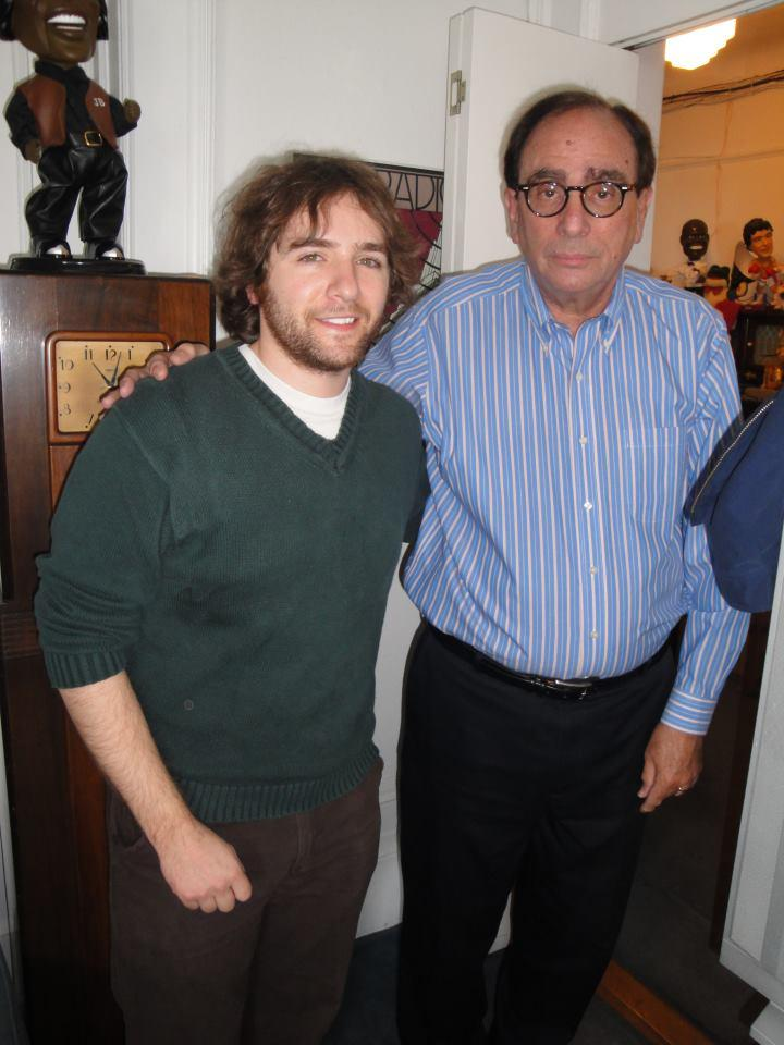 WAMC's Ian Pickus and R.L. Stine in 2011.