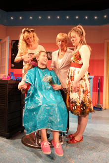 Steel Magnolias at Curtain Call Theatre b- L to R Allison Tebbano, Laura Graer, Cristin Loffredo, Pat Hoffman