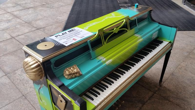 One of three street pianos in Springfield, MA