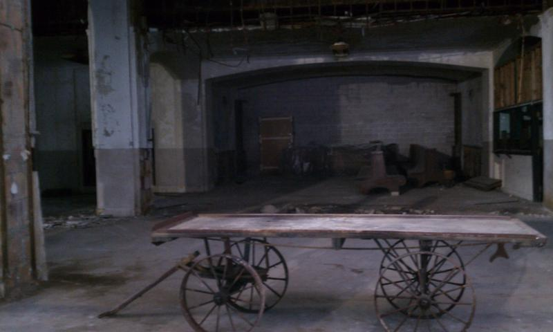 An old baggage cart that was restored and put on display in Union Station