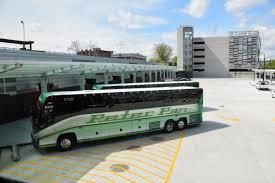 Union Station has 27 open air bus bays that will be used by the PVTA, Peter Pan Bus Lines and Greyhound