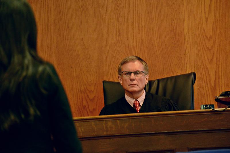Judge Paul Vrabel fined 12 other demonstrators $100 each on trespassing charges earlier this summer.