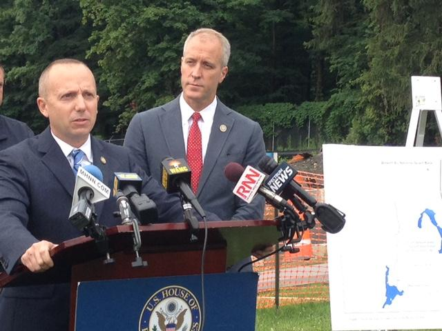 NYS DEC Commissioner Basil Seggos (left) with Congressman Sean Patrick Maloney