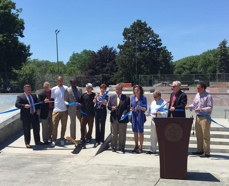 Albany's skateboard culture rejoices as officials cut the ribbon at the new public skate park.