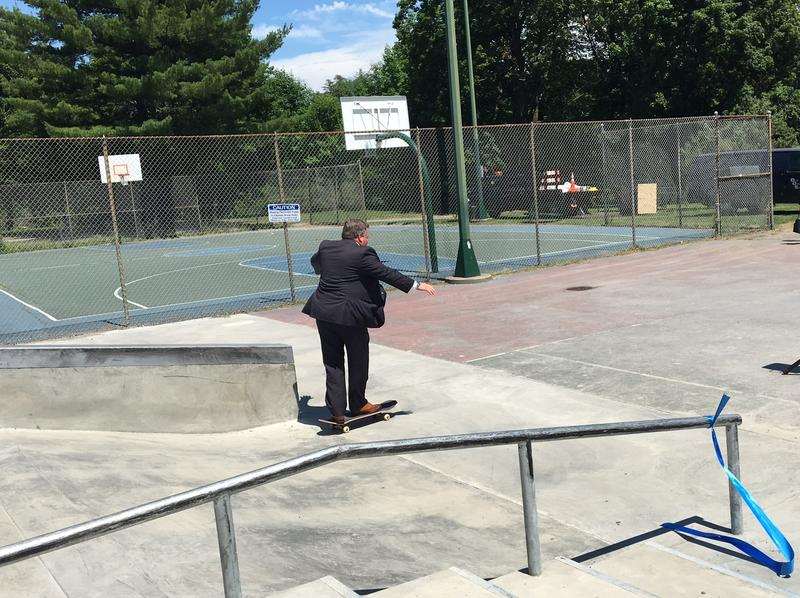 Albany County Executive Dan McCoy couldn't resist the urge to skate.