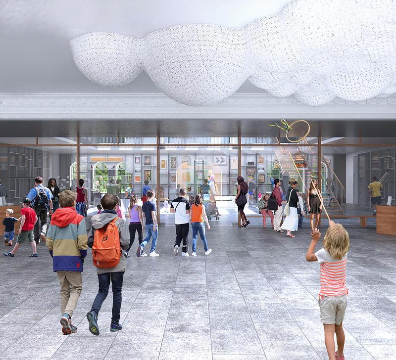 Berkshire Museum's reimagined wide-open lobby.