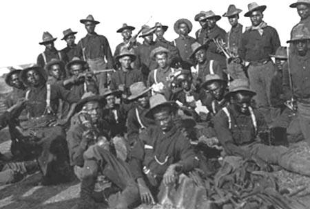 Buffalo Soldiers of the 10th Cavalry Regiment circa 1898