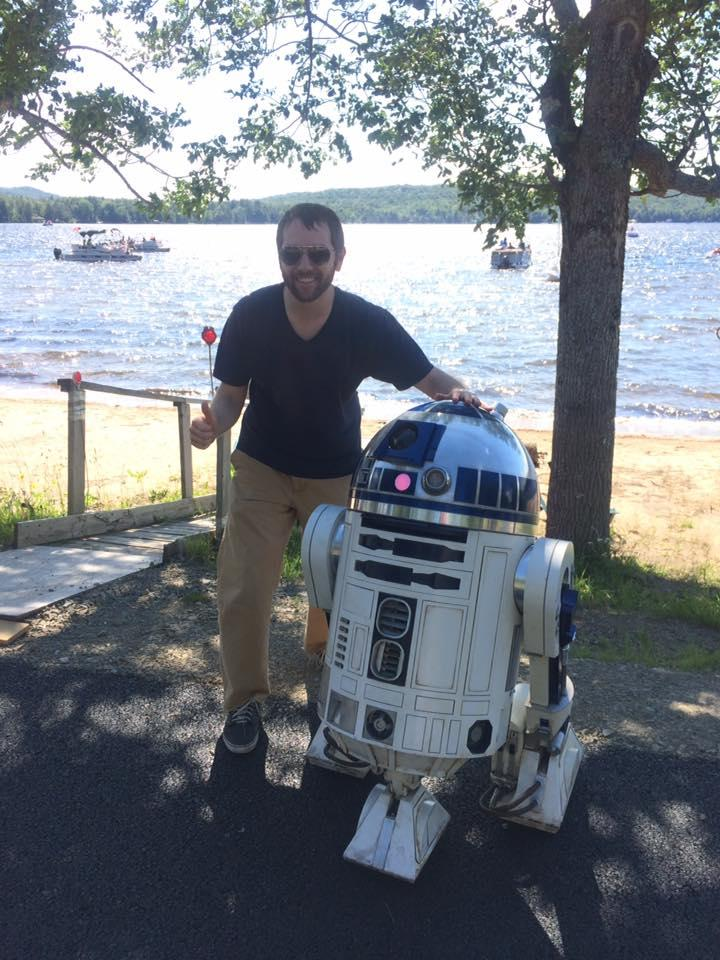 Ian Pickus with R2D2