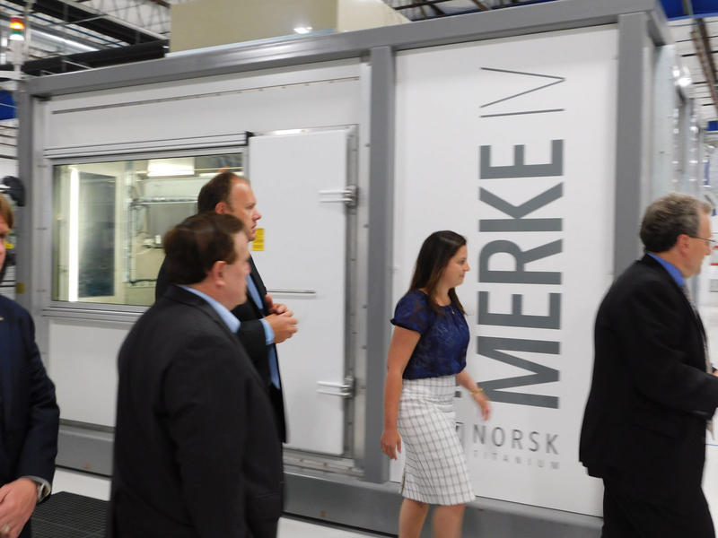 Congresswoman Elise Stefanik tours the Norsk Titanium plant in Plattsburgh