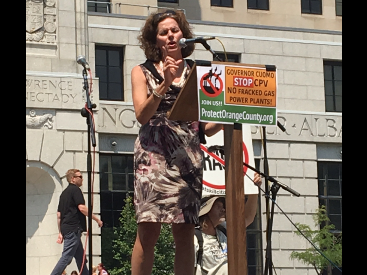 There were concerned words from area state Assemblywoman Pat Fahy, who showed up to the surprise and delight of rallygoers.