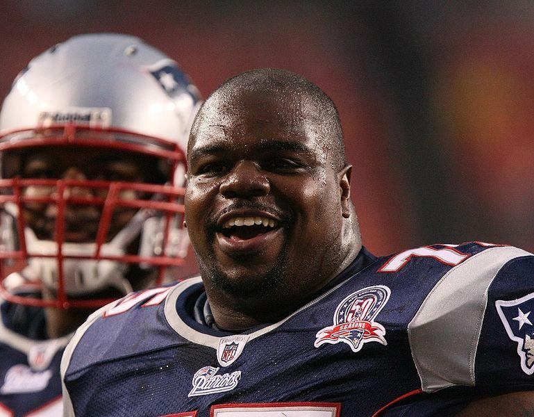 Patriots player Vince Wilfork