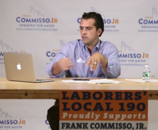 Frank Commisso Jr., appearing on Facebook LIVE