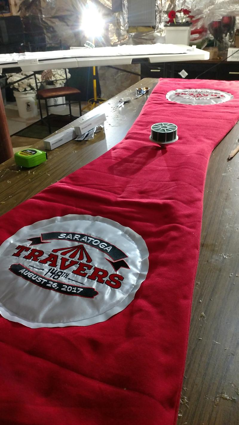 The Travers blanket will have about 800 flowers sewn onto it the night before the race