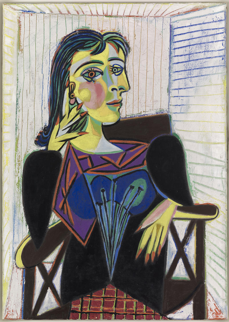 Portrait of Dora Maar, 1937. Oil on canvas, 36 1/4 x 25 5/8 in. Musée national Picasso-Paris, Paris. Pablo Picasso, 1979, MP158. Photo: Mathieu Rabeau © RMN-Grand Palais / Art Resource, NY
