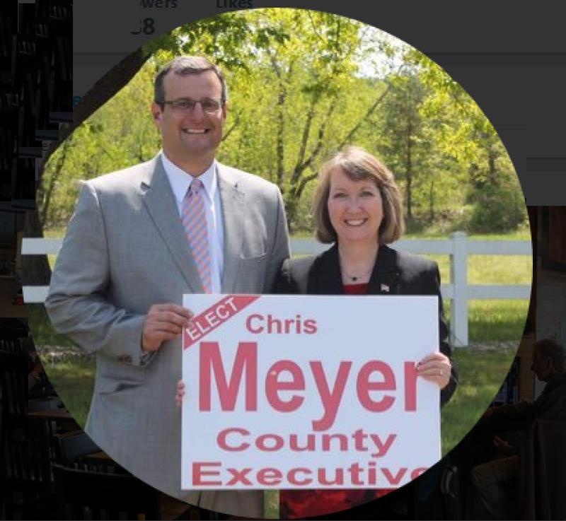 Deputy Rensselaer County Executive Chris Meyer with sitting County Executive Kathy Jimino