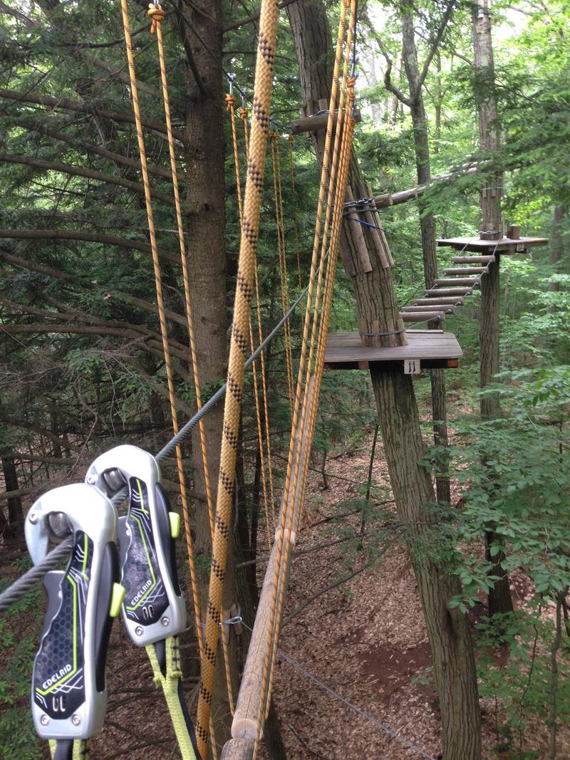 The aerial adventure park at Ramblewild in Lanesborough, Mass.