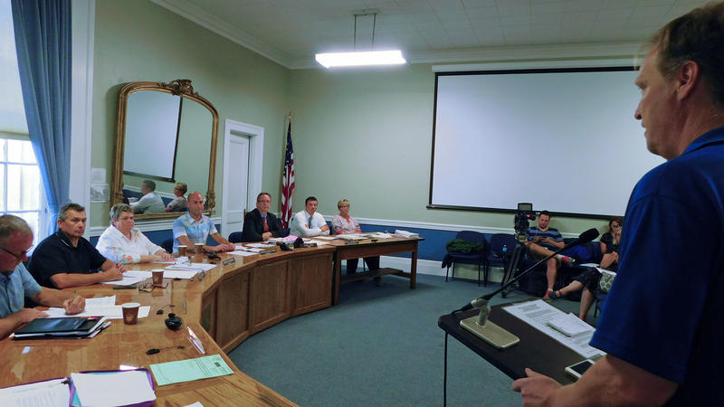 Luke Cyphers addresses Plattsburgh City Council