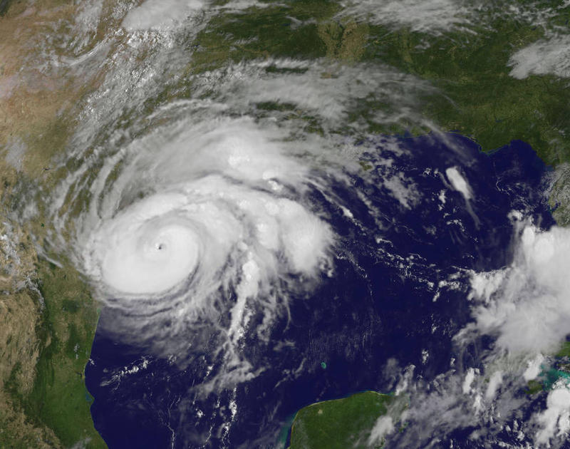 An image of Hurricane Harvey