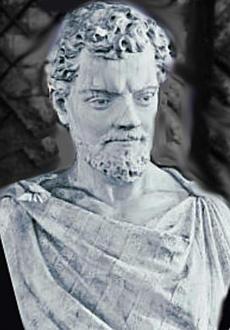 Sculpture of Lucretius, 1859-1861, Parco del Pincio, Rome