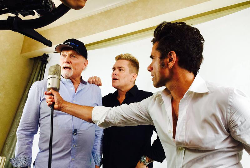 Mike Love with Mark McGrath and John Stamos.