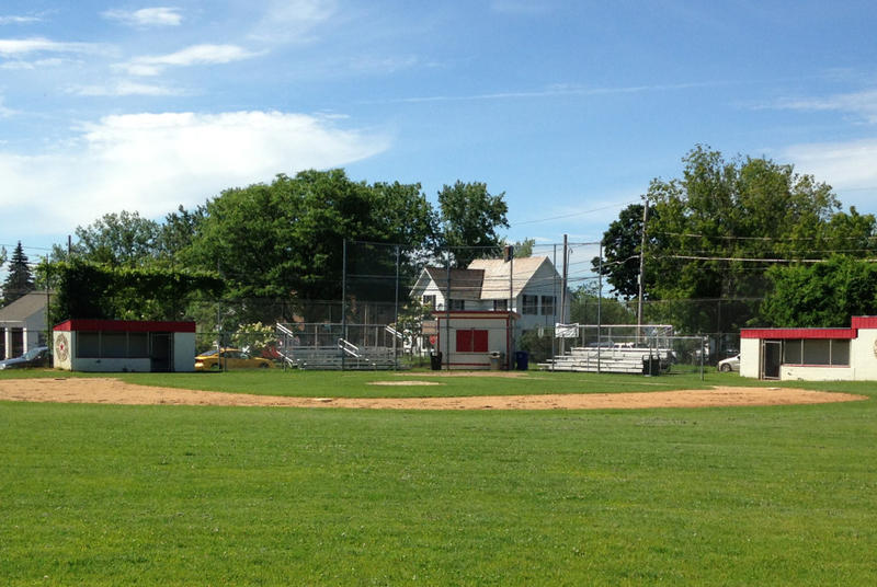Baseball field in Burlington's Roosevelt Park