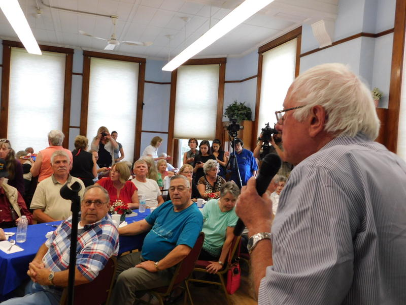 U.S. Senator Bernie Sanders at the Franklin County Senior Center