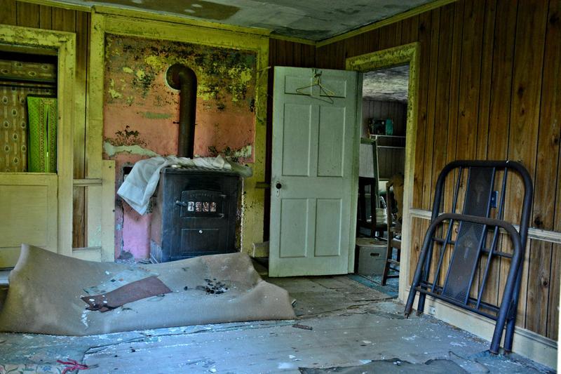 The original farm house has fallen into disrepair.
