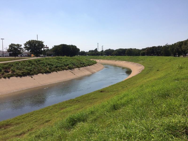 Brays Bayou as it looked on Tuesday.