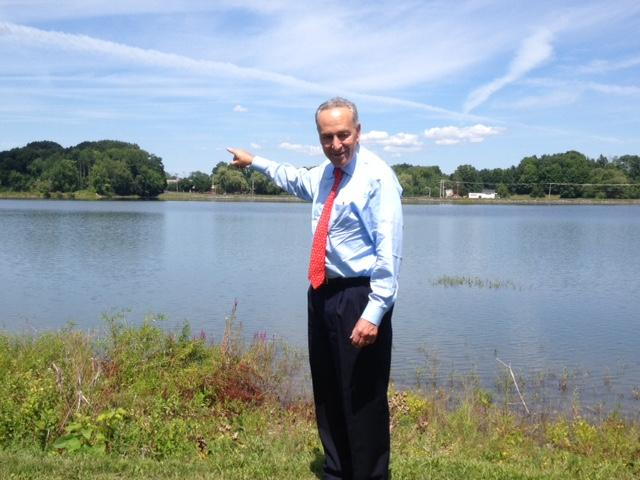 Senator Schumer at Washington Lake