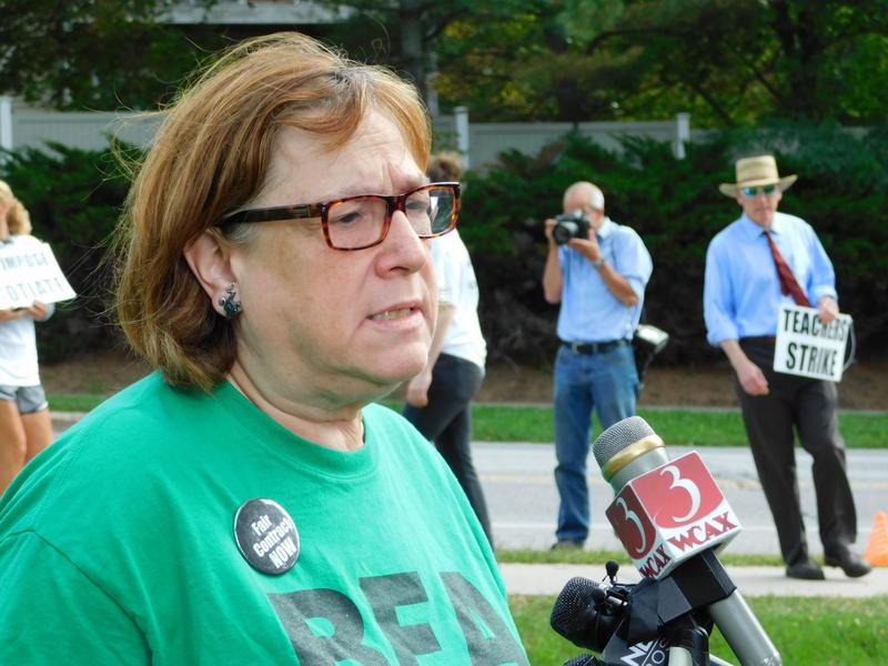 Burlington Education Association President Fran Brock
