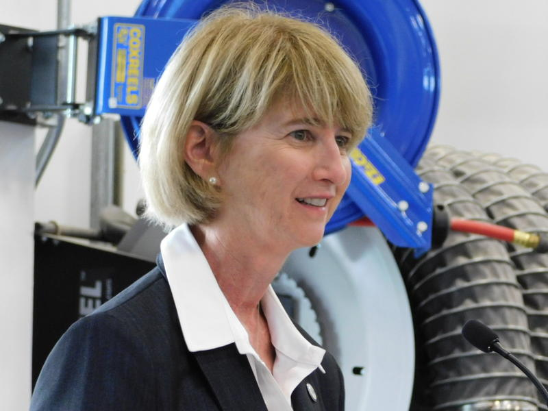 SUNY Chancellor Dr. Kristina Johnson at the Institute for Advanced Manufacturing