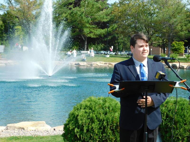 William Hodge speaks at 9-11 memorial