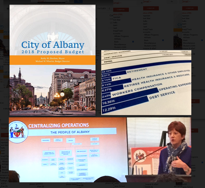 Mayor Sheehan presented her 2018 budget plan at City Hall, Monday October 2, 2017.