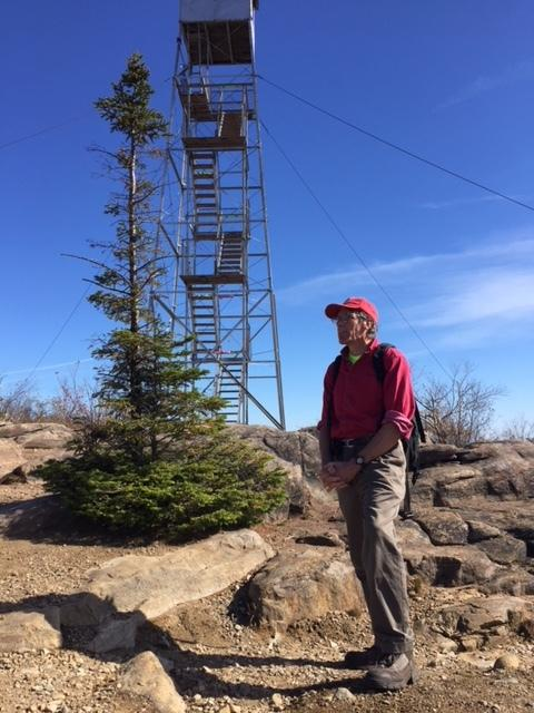 Adirondack Wild's David Gibson on the summit on Hadley Mountain