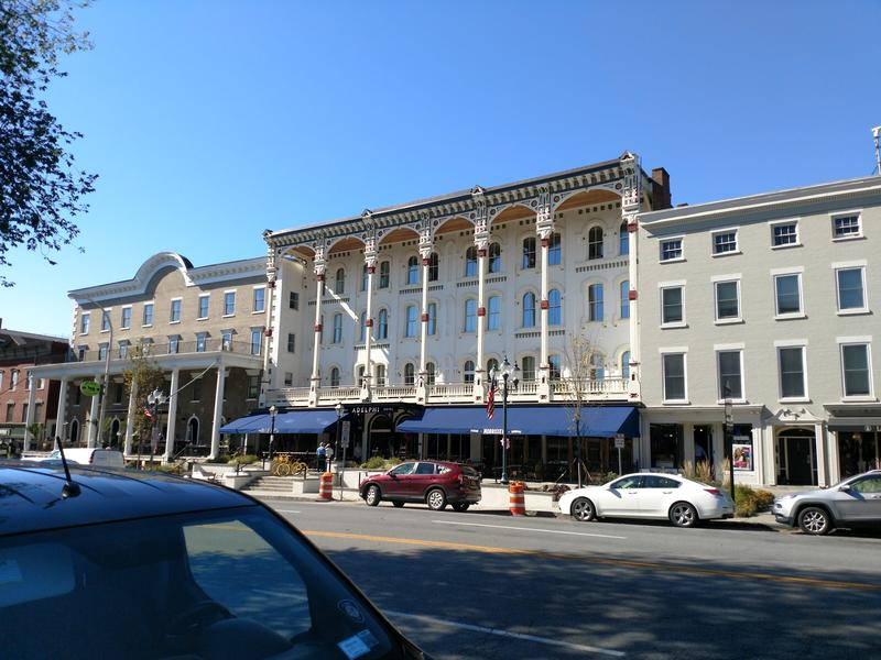 The Adelphi Hotel on Broadway in Saratoga Springs