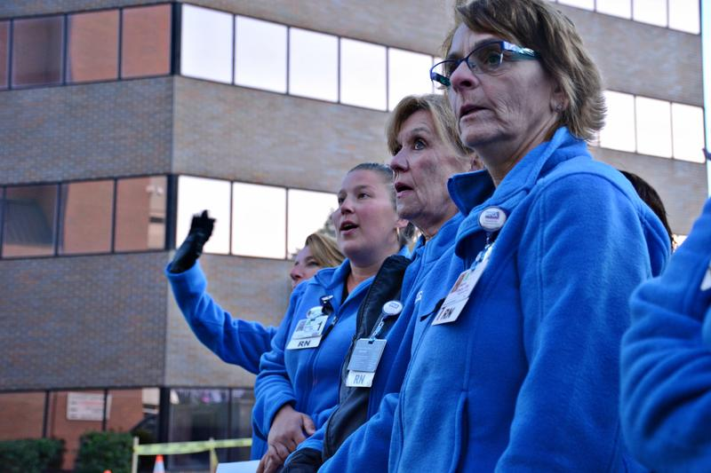 "Massachusetts Nurses Association stands their ground, saying ""Our hospital, our patients"" when asked to leave."