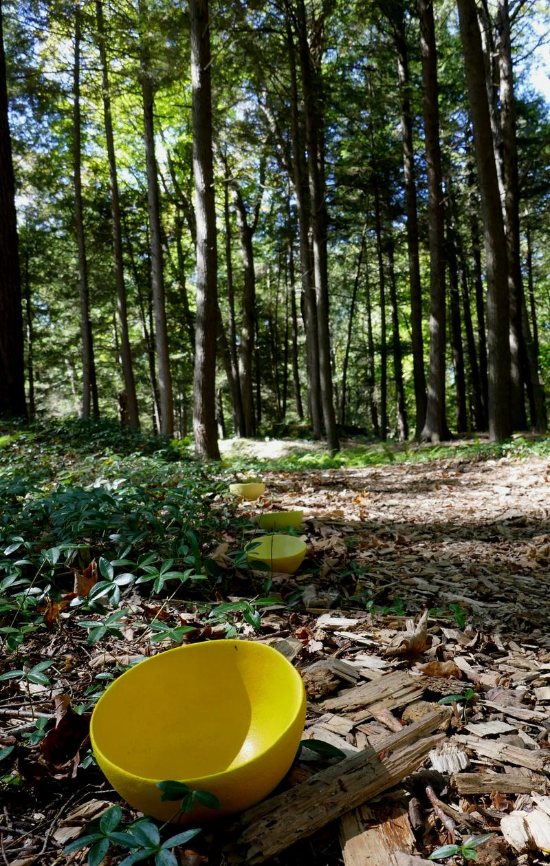 Setsuko Winchester; Yellow Peril (Freedom From Fear - Yellow Bowl Project; SculptureNow Nexus at The Mount