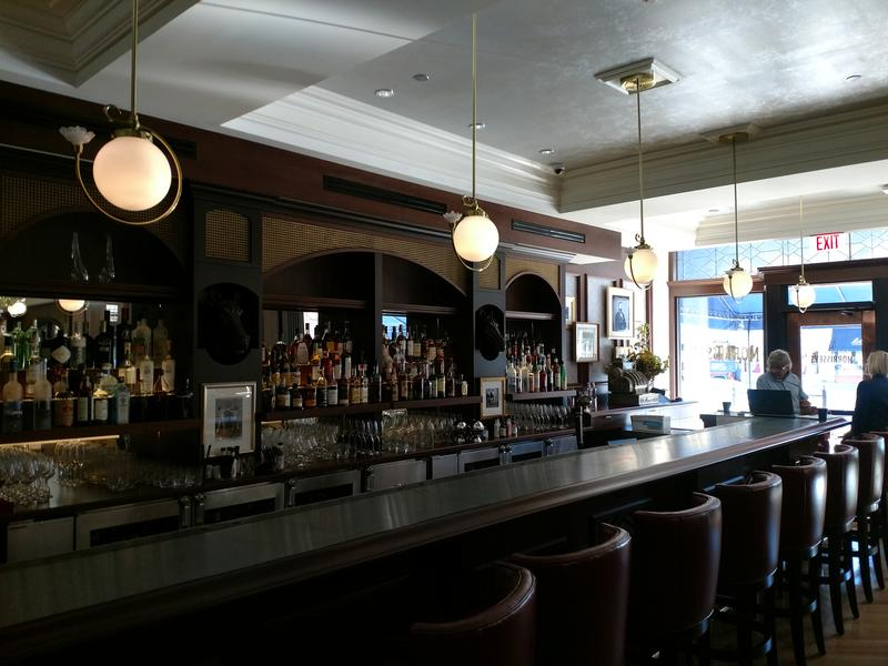 The bar inside the Adelphi Hotel