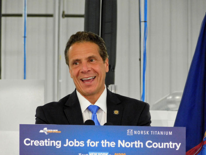 File: Governor Andrew Cuomo at Norsk Titanium in Plattsburgh