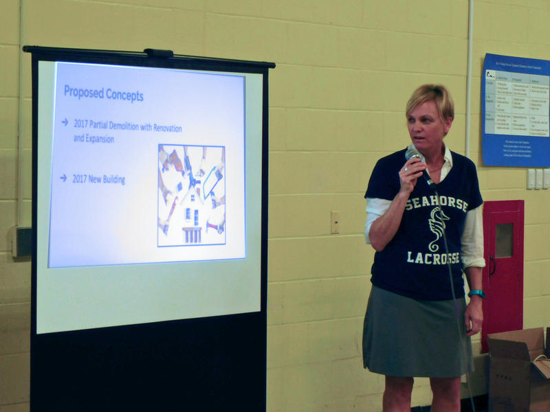 Martine Gulick presents Re-Envisioning Burlington High School plans