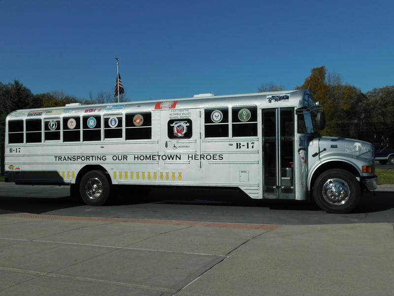 North Country Honor Flight bus