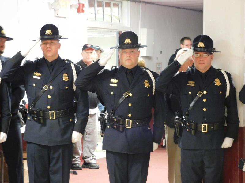 Honor Guard at Honor Flight ceremonial send off