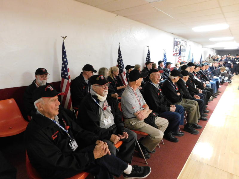 Honor Flight vets at ceremony before flight