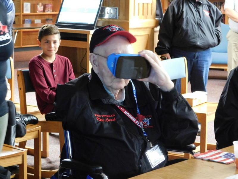 Veteran Ken Lord taking the virtual tour